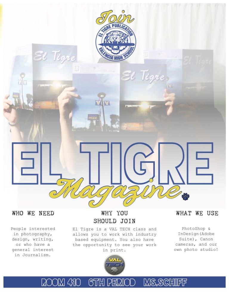Winter 2017-2018 El Tigre Ad